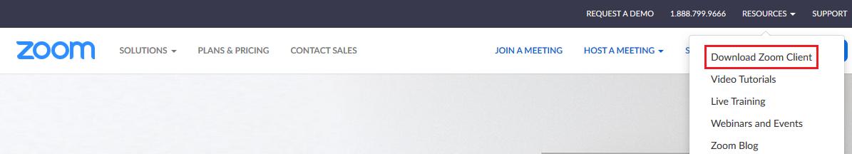 Útmutató a Zoom alkalmazás használatához: download Zoom client
