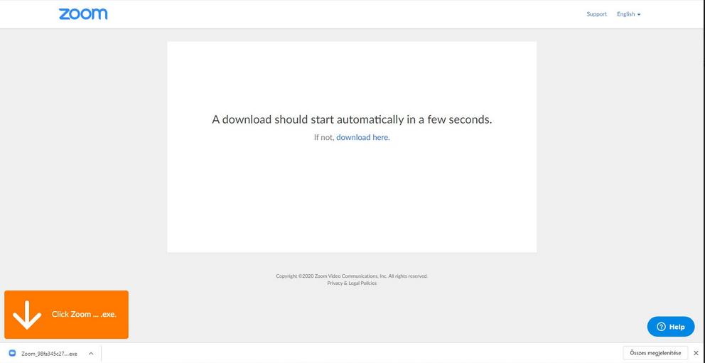 Útmutató a Zoom alkalmazás használatához: download Zoom.exe-2