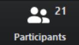 Útmutató a Zoom alkalmazás használatához: Participants